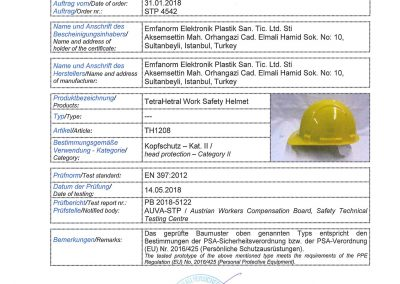Work Safety Helmet Certifications